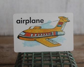 Vintage 1970s Flash Card // Airplane