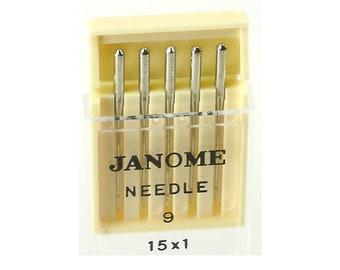 Janome 15X1 Size 9 Universal Machine Needles - 5 Pack
