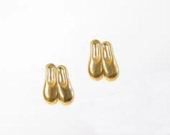 Gold Ballet Slippers for Sensitive Ears