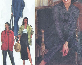 90s Womens Mandarin Collar Jacket, Maxi Skirt & Ankle Length Pants Style Sewing Pattern 2369 Size 6 8 10 12 14 16 Bust 30 1/2 to 38 UnCut