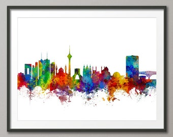 Tehran Skyline, Tehran Iran Cityscape Art Print (2861)