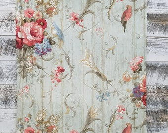 Bird Rose French Cottage Floral Victorian Wallpaper HA1326 - Sold by the Yard