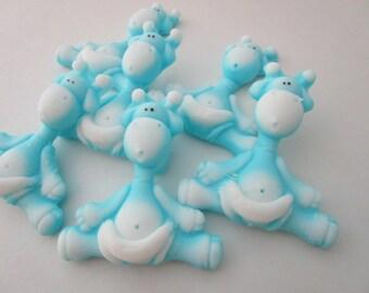 Jungle baby shower favor - 35 GIRAFFE SOAP - blue animal favor, baby Sprinkle Favors