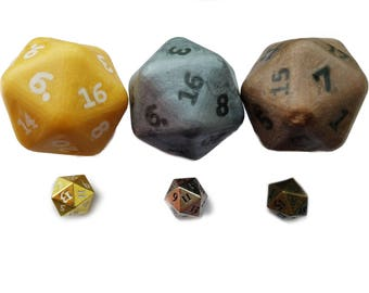 Heavy Metal d20 Set Soap with Metal Dice Inside With FREE Dice Bag Dungeons and Dragons Magic the Gathering MtG Pathfinder RPG Dice Set DnD