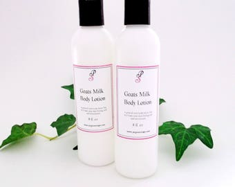 Goats Milk  Body  Lotion 8 oz You Select Your Scent