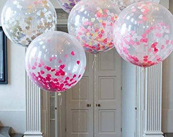 """36"""" Clear High Quality Latex Large Balloon - Set of 2"""