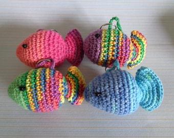 Crochet keychain fish, crochet fish, fish amigurumi, keychain, amigurumi, handmade, crochet keychain, fish keychain, colourfull fish, cute