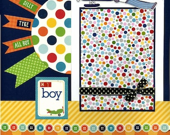 My Boy - Premade Scrapbook Page