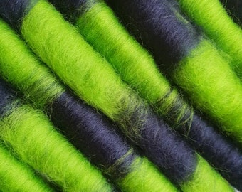 Geek Love | Merino Rolags/Punis | 50g of hand blended merino fibre for spinning