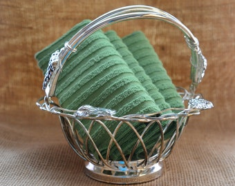 WIRE BASKET-Vintage Silver Plate-Fruit or Bread Bowl-Floral Centerpiece-Hollywood Elegance-Celebration-Affordable-Wedding-25th Anniversary