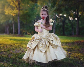 Belle Dress / Disney Princess Dress / Beauty and the Beast Inspired Costume / Ball gown style for toddler, child, girl