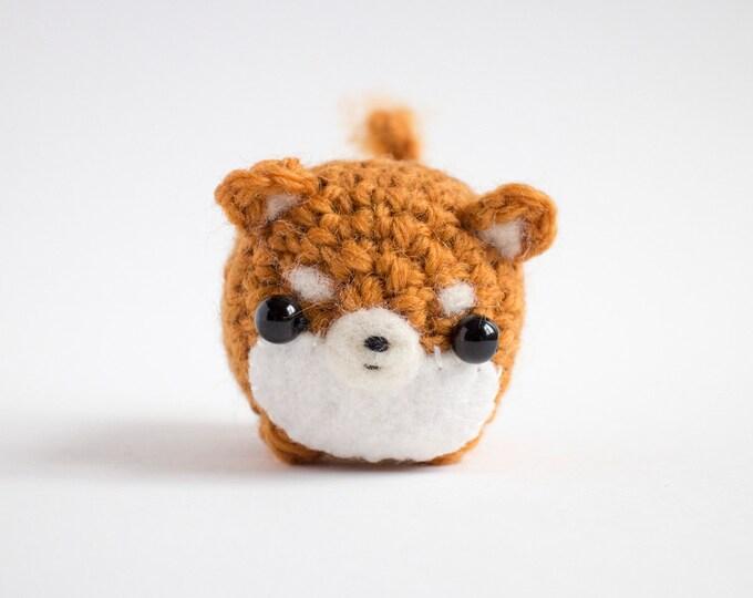 Featured listing image: Shiba Inu plush toy - crochet amigurumi dog plush