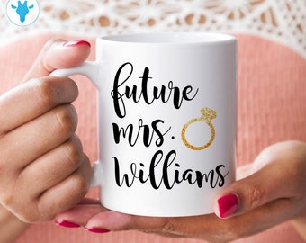 Future Mrs Mug, Personalized Gift, Wedding Gift, Ceramic Mug, Bride Gift, Bride To Be, Bridal Shower Gift, Coffee Cup, Gift For Her, Wedding