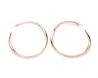 Grand Hoop Earrings in 14k Rose Gold