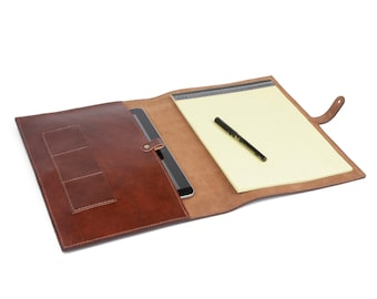 Leather iPad accessory , Leather iPad case , iPad Cover, Leather Folder, leather paper cover,  gift for business travelers