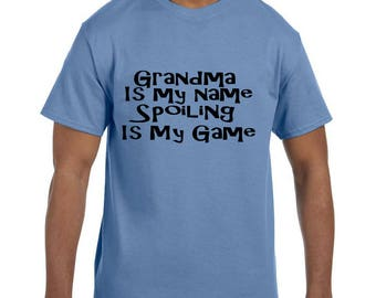 Tshirt Mother's Day Grandma is my Name Spoiling is my Game model xx10100