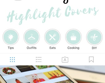 Instagram Stories Highlight Covers in Mint Colour - Set of 20