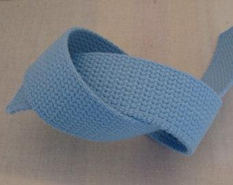 Pastel Blue Cotton Webbing For Key Fobs Purse Handles Belting