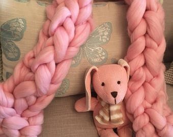Giant knit merino scarf