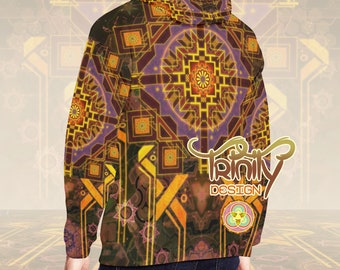 Sacred Geometry Clothing Psychedelic Hoodie Hippie Clothes Futuristic Clothing Music Festival Clothing Rave Clothes Burning Man clothing