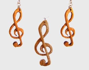 "Jewelry set oak ' clef ' """