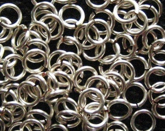 100 Jump Rings -- 18 ga 3.5mm ID Handmade Non Tarnish Silver