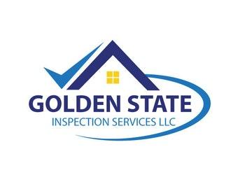 Home Inspection Custom Logo Design. Premade Logo Design. Inspector, Home.  Customized For