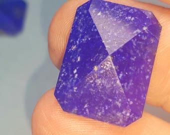 SALE one 18.5mm Lapis lazuli pyramid cut gemstone  Ref:B 18.5 by 13.5 by 4.5mm