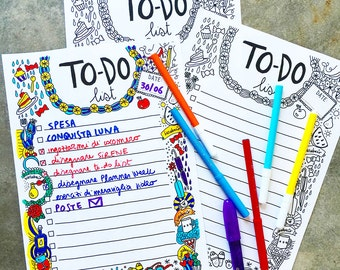 To-do list printable and colorable