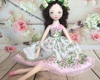 princess doll Textile doll decorative doll collectible dolls  cotton rag doll