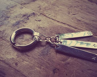 Key ring in sterling silver