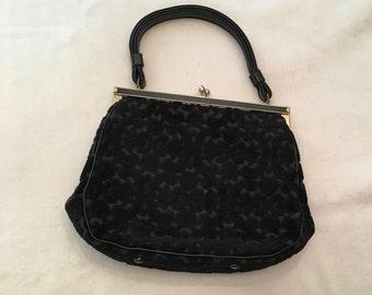 Cara Flocked Velvet Bag