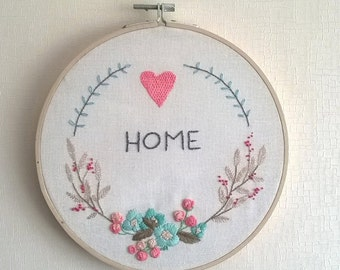 PDF hand embroidery pattern, instant download, needlecraft Design - home hoop