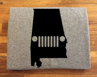 Alabama Jeep Shirt