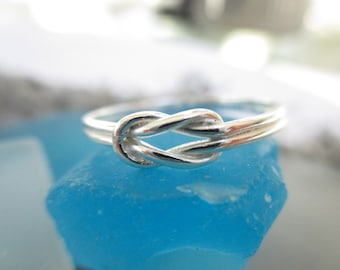 Sailors Knot- Love Knot -Double Knot Ring Sterling Silver*