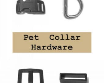 "5 SETS - 5/8"" - Dog Collar Kits, 5/8 inch, WIDE Mouth - Choose With or Without Keepers"