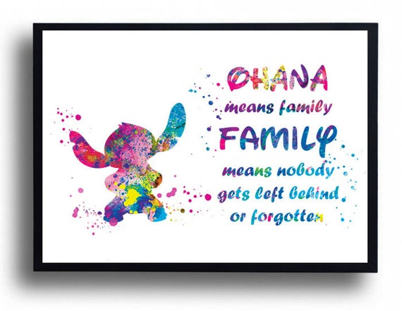 Lilo and stitch ohana quote ohana meaning family print lilo m4hsunfo Gallery