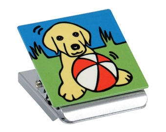 Yellow Labrador Retriever Puppy/Yellow Labrador Retriever/ Yellow Lab Puppy/Dog/Puppy Metal Clip Magnet
