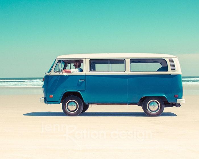 Volkswagen Bus VW Bus Car Photography Volkswagen Van Beach