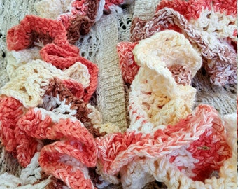Peaches and cream scarf