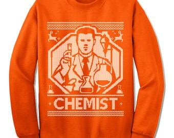 Chemist Ugly Christmas Sweater. Gift. Science Ugly Sweater. Sweater. Jumper. Ugly. Pullover. Christmas.