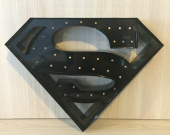 "Superman Marquee Letter Light 12""... Light Up Sign, LED battery operated... great for nurseries or kids rooms"