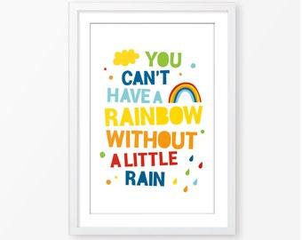 Kids poster,kids motivational quote,little boys poster,nursery decor,rainbow poster,baby poster,children wall art,kids room decor
