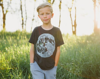 Kids Moon Tshirt, Baby Toddler Youth Clothing, Kids Graphic Tee, Unisex Clothing Boys or Girls Tees, New Mom New Dad Gift
