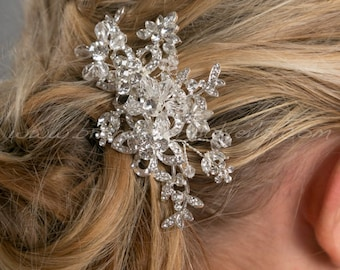 Rhinestone Hair Comb, Crystal Hair Comb, Wedding Hair Accessory - Theresa