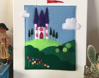 Fairytale Castle 3D Felt Picture