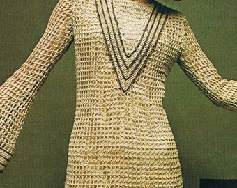 1972 Japanese Publication for Crocheted Dressmaking