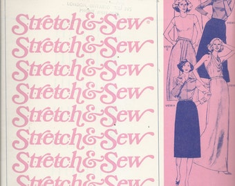 Uncut Vintage Sewing Pattern #445 - Stretch & Sew - SKIRTS - STRAIGHT, A-LINE, Dirnd1 - c. 1978 Ann Person - Hip Sizes 30 - 46