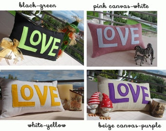 A Pinch Of Love decorative cushion / pillow