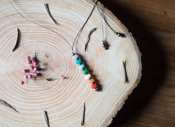 Chakra rustic necklace